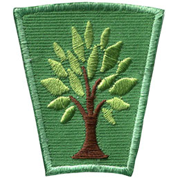 Season, Spring, Summer, Fall, Winter, Tree, Patch, Embroidered Patch, Merit Badge, Badge, Emblem, Iron On, Iron-On, Crest, Lapel Pin, Insignia, Girl Scouts, Boy Scouts, Girl Guides