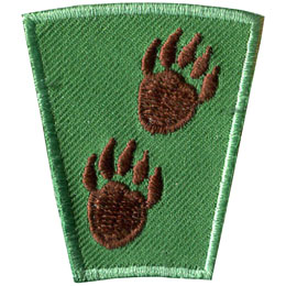Season, Spring, Summer, Fall, Winter, Animal, Tracks, Patch, Embroidered Patch, Merit Badge, Badge, Emblem, Iron On, Iron-On, Crest, Lapel Pin, Insignia, Girl Scouts, Boy Scouts, Girl Guides
