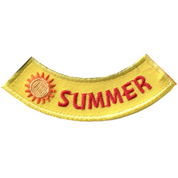 Season, Spring, Summer, Fall, Winter, Sun, Patch, Embroidered Patch, Merit Badge, Badge, Emblem, Iron On, Iron-On, Crest, Lapel Pin, Insignia, Girl Scouts, Boy Scouts, Girl Guides