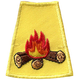 Season, Spring, Summer, Fall, Winter, Campfire, Fire, Camp, Patch, Embroidered Patch, Merit Badge, Badge, Emblem, Iron On, Iron-On, Crest, Lapel Pin, Insignia, Girl Scouts, Boy Scouts, Girl Guides