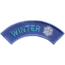 Season, Spring, Summer, Fall, Winter, Snowflake, Snow, Patch, Embroidered Patch, Merit Badge, Badge, Emblem, Iron On, Iron-On, Crest, Lapel Pin, Insignia, Girl Scouts, Boy Scouts, Girl Guides