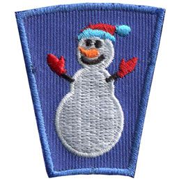 Season, Spring, Summer, Fall, Winter, Snow, Snowman, Patch, Embroidered Patch, Merit Badge, Badge, Emblem, Iron On, Iron-On, Crest, Lapel Pin, Insignia, Girl Scouts, Boy Scouts, Girl Guides