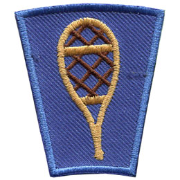 Season, Spring, Summer, Fall, Winter, Snow, Snow shoe, Patch, Embroidered Patch, Merit Badge, Badge, Emblem, Iron On, Iron-On, Crest, Lapel Pin, Insignia, Girl Scouts, Boy Scouts, Girl Guides, snowshoe