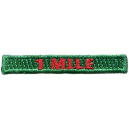 Hiking - 1 Mile Rocker (Iron On)