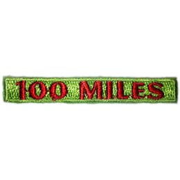 Hiking - 100 Miles Rocker (Iron On)
