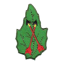 Outdoor, Camp, Archery, Leaf, Arrow, Set, Patch, Embroidered Patch, Merit Badge, Badge, Emblem, Iron-On, Iron On, Crest, Lapel Pin, Insignia, Girl Scouts, Boy Scouts, Girl Guides