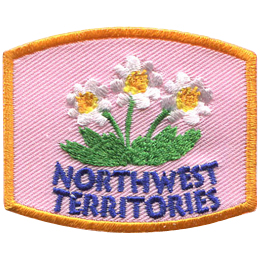 This patch displays the Northwest Territories' provincial flower: the mountain avens (also known as white dryas).