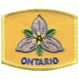 This patch displays Ontario's provincial flower: the white trillium.