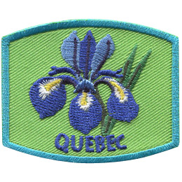 This patch displays Quebec's provincial flower: the blue flag iris.
