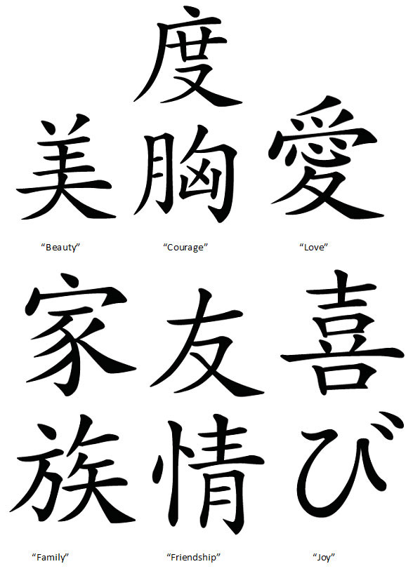 <p>Japanese characters that you can copy onto your Japanese fan craft or use as a reference for your Woodblock Printing craft.</p>