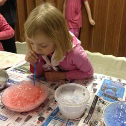 <p>Bubble art is easy to create and comes in many fun colours.</p>