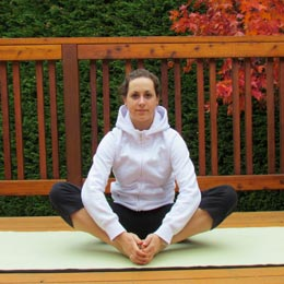 <p>Become a yogi or yogini by trying out the Cobbler's Pose.</p>