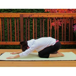 <p>Become a yogi or yogini by trying out the Tortoise Pose. Imagine that the curve of your back is the domed shell of a tortoise.</p>